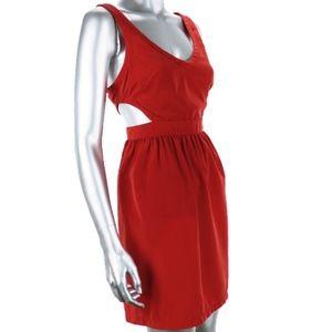 Ali & Kris Red Cut-Out Mini Dress